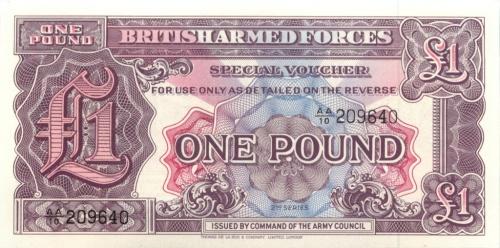 1 фунт (ваучер) - Вооруженные силы Великобритании (Великобритания)