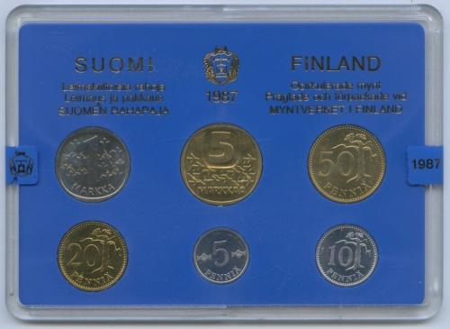 Набор монет (годовой) 1987 года (Финляндия)
