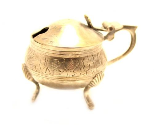 Солонка, серебрение (5×8 см)