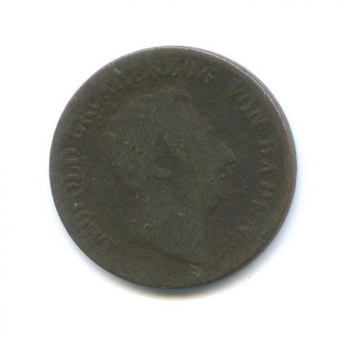 1 крейцер - Леопольд, Баден 1852 года