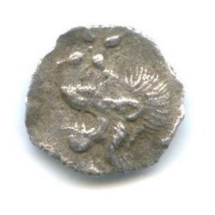 Гемиобол - Мизия (Кизик) 480-450 гг. до н. э., лев/кабан