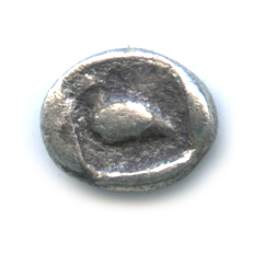 Тетартиморион, Иония Милет, лев/орел, 6 мм