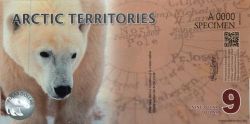 9 долларов (Арктические территории) 2012 года