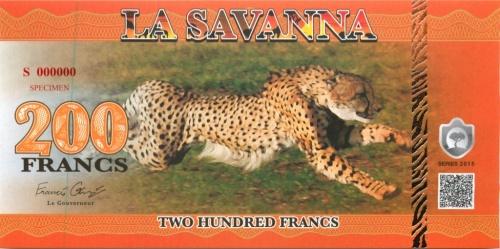 200 франков (Саванна) 2015 года