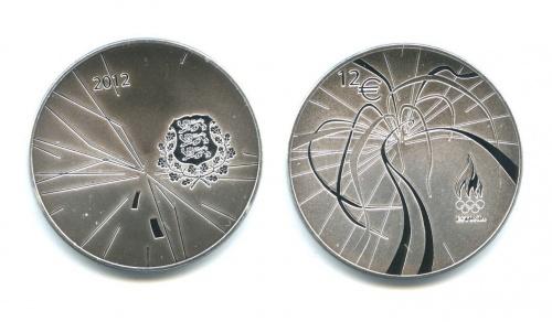 12 евро - Летние Олимпийские игры вЛондоне (в футляре) 2012 года (Эстония)