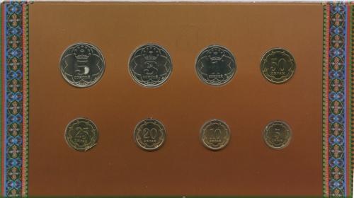 Набор монет (вбуклете) 2001 года (Таджикистан)