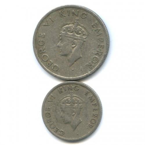 Набор монет, Британская Индия 1947 года