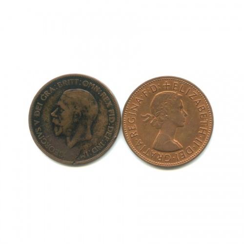 Набор монет 1 пенни 1928, 1966 (Великобритания)