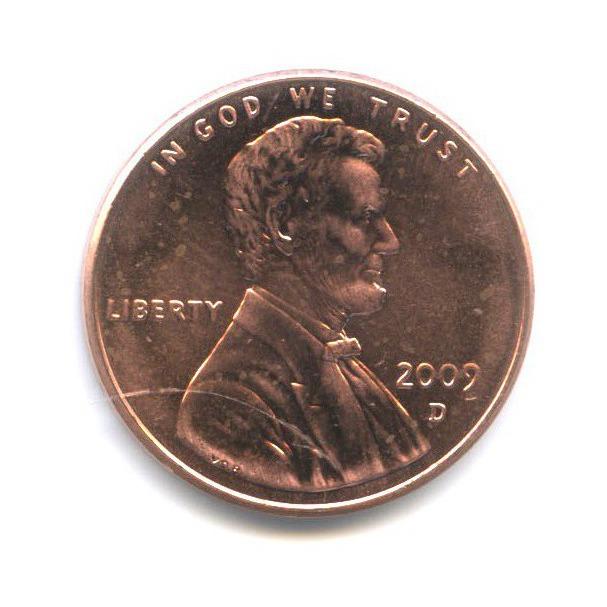 1 цент — 200 лет содня рождения Авраама Линкольна - Детство вКентукки 2009 года D (США)