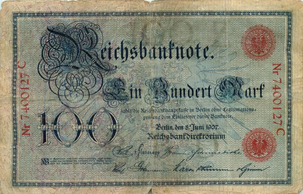 100 марок 1907 года (Германия)