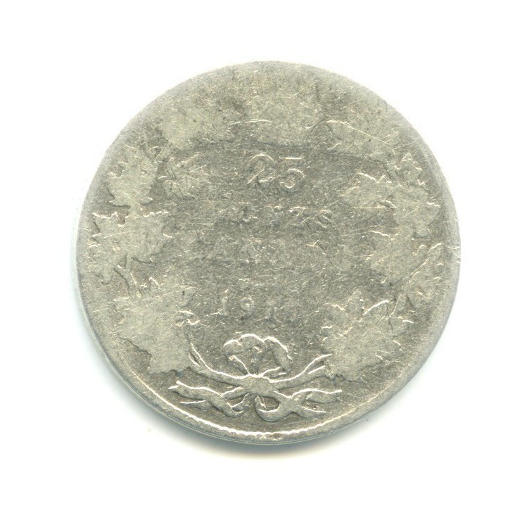25 центов - Эдуард VII 1910 года (Канада)