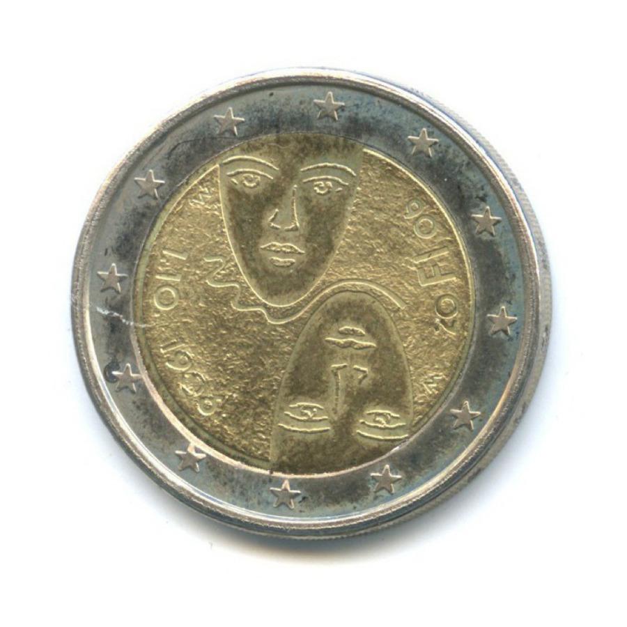 2 евро — 100 лет равного избирательного права вФинляндии 2006 года (Финляндия)