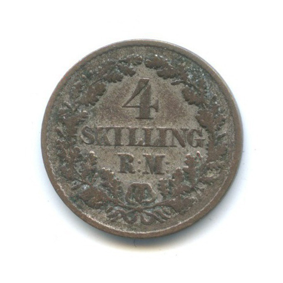 4 скиллинга - Фредерик VII 1854 года (Дания)
