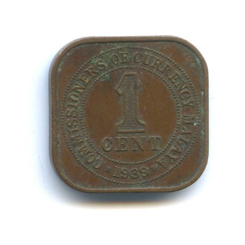 1 цент - Георг VI, Малайя 1939 года