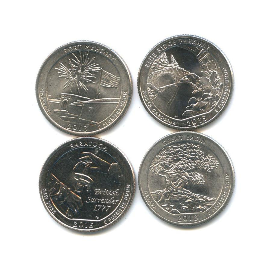 Набор юбилейных монет 25 центов (квотер) 2013, 2015 (США)