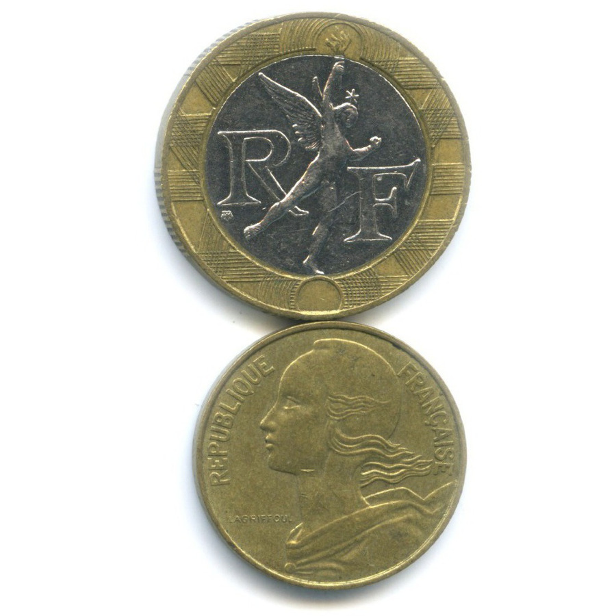 Набор монет 1985, 1989 (Франция)