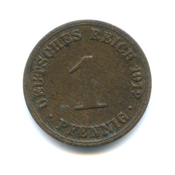 1 пфенниг 1912 года (Германия)