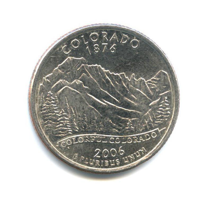 25 центов (квотер) — Квотер штата Колорадо 2006 года P (США)