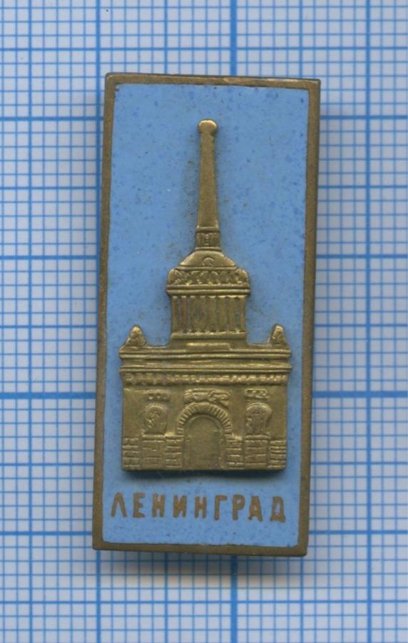 Значок «Ленинград» (латунь, тяжелый, эмаль) (СССР)