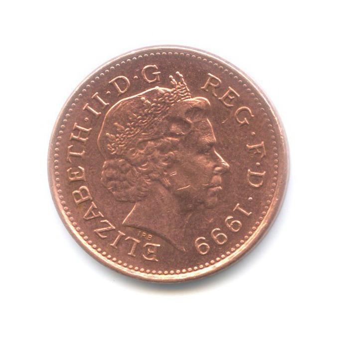 1 пенни 1999 года (Великобритания)
