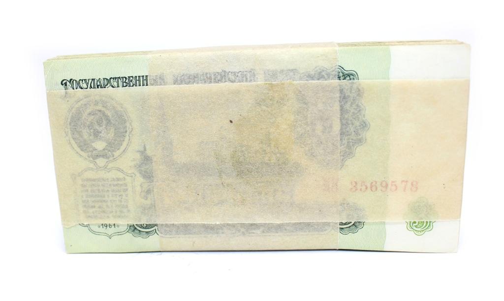 Набор банкнот 3 рубля взапечатанной пачке (СССР)