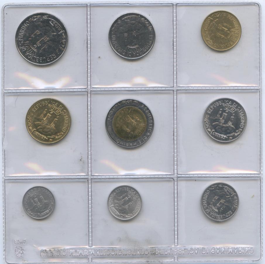 Набор юбилейных монет (взапайке) 1982 года (Сан-Марино)