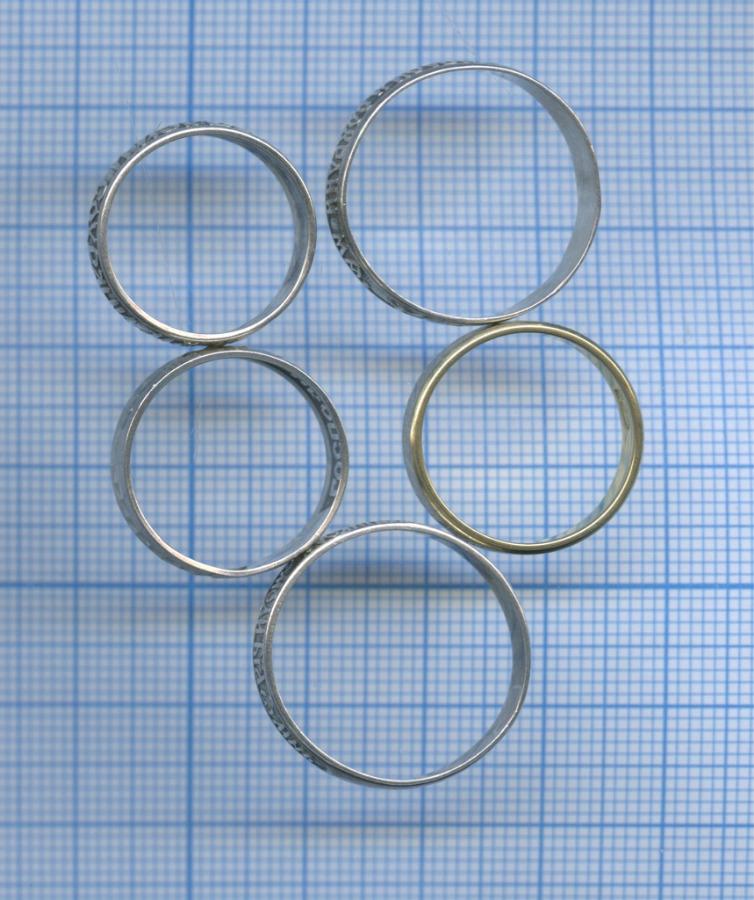 Набор колец, серебро (925 проба)