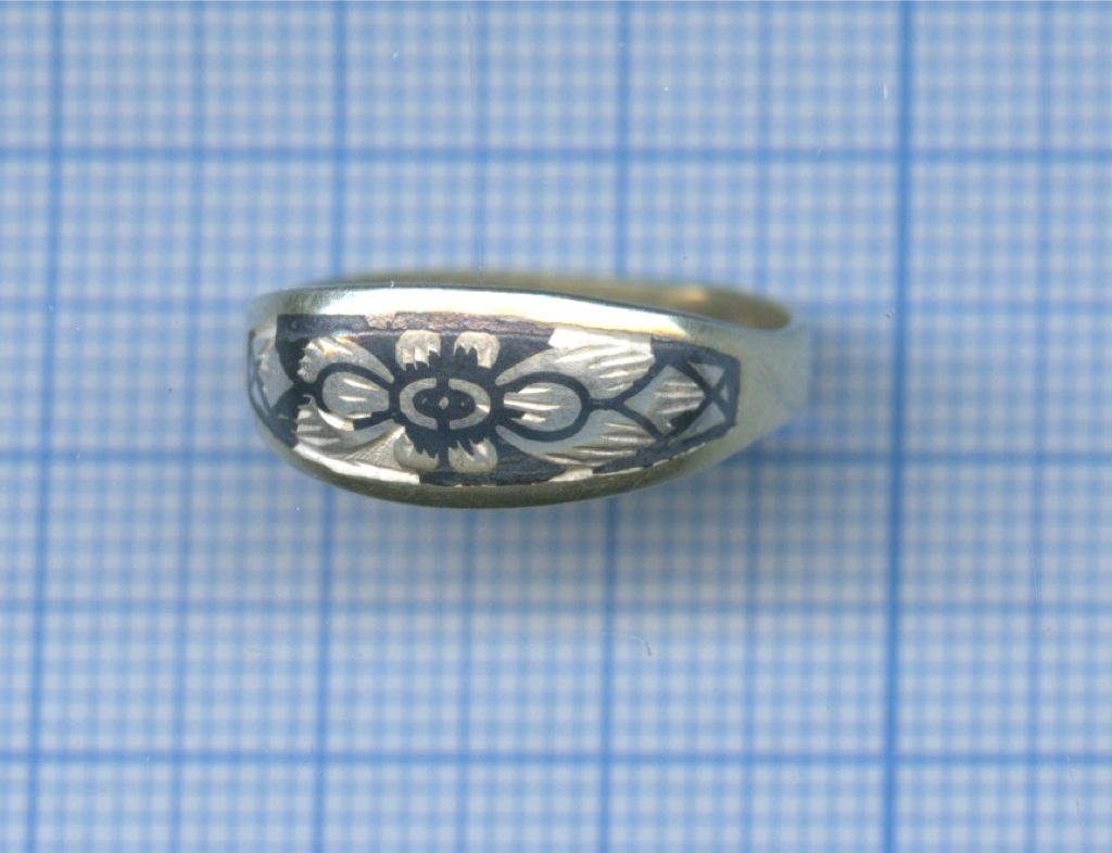 Кольцо, эмаль, серебро (925 проба)