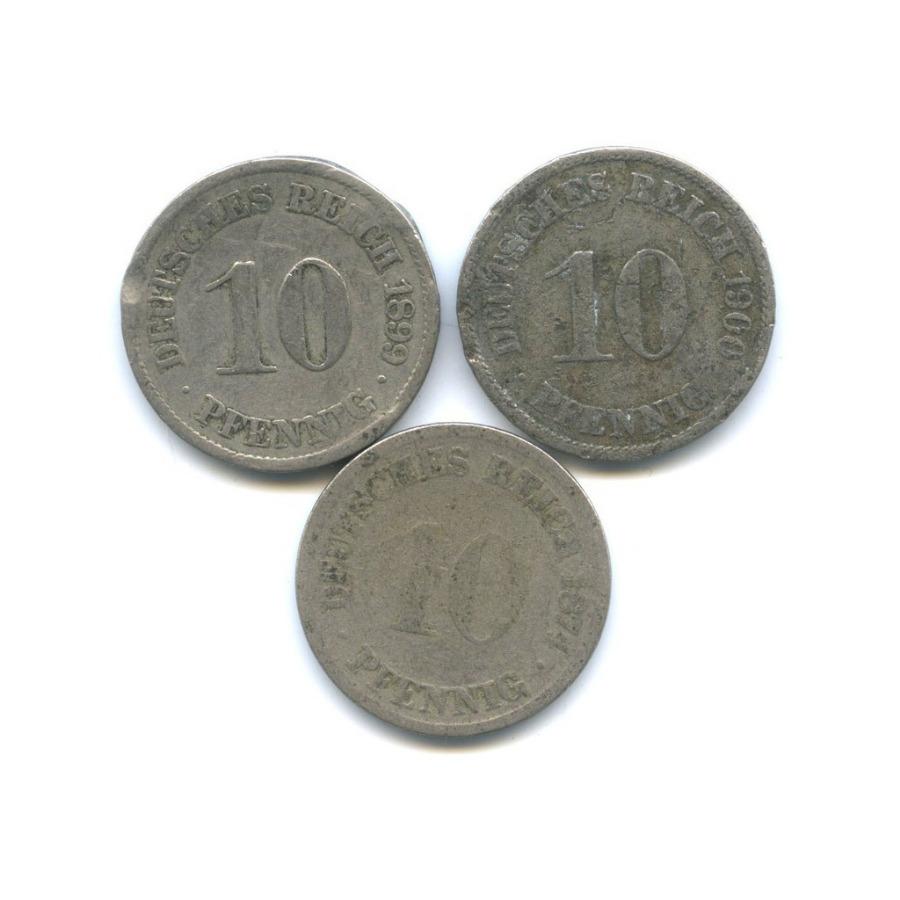 Набор монет 10 пфеннигов (Германия)