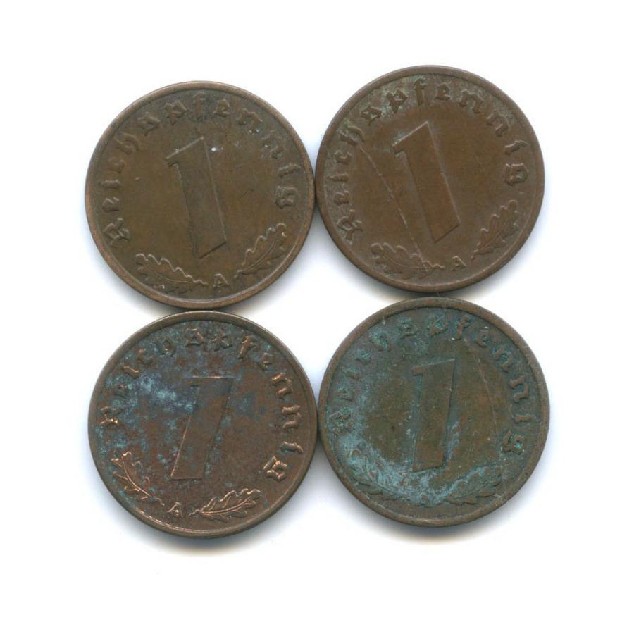 Набор монет 1 рейхспфенниг 1937, 1939 (Германия (Третий рейх))