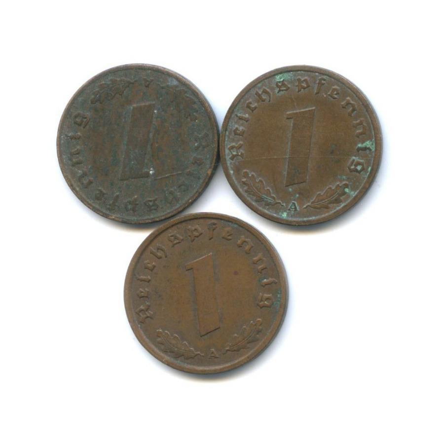 Набор монет 1 рейхспфенниг (Германия (Третий рейх))