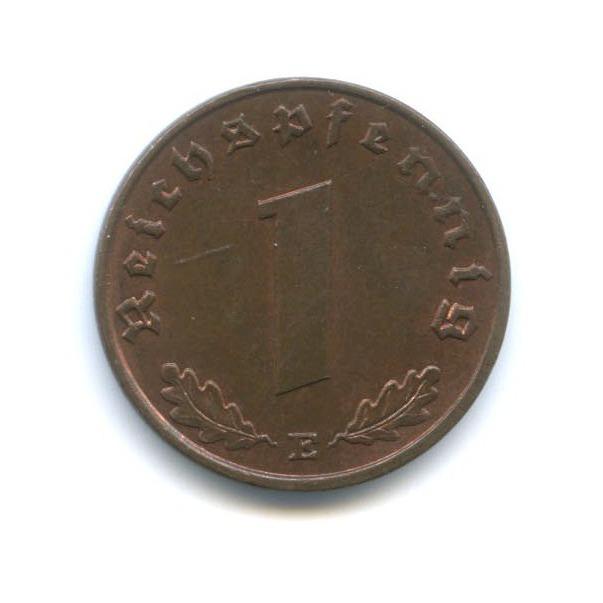1 рейхспфенниг 1937 года E (Германия (Третий рейх))