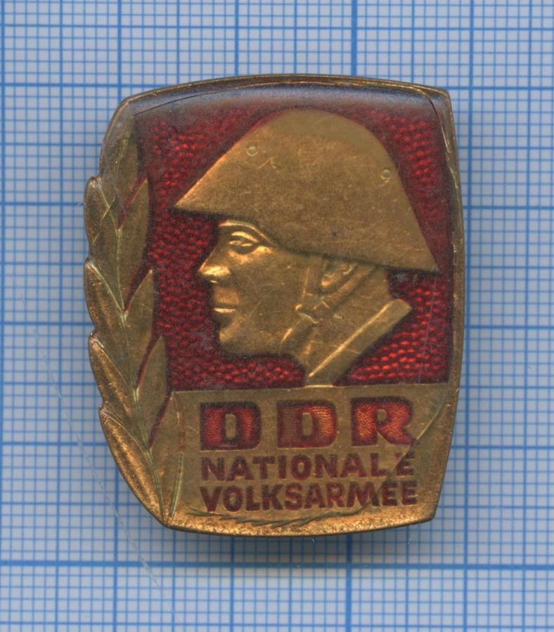 Знак «DDR - Nationale Volksarmee» (Германия (ГДР))