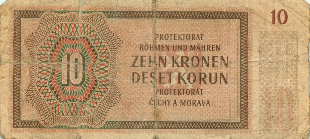 10 крон (Чехия иМоравия) 1942 года