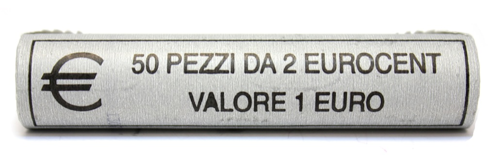 Набор монет 2 цента (ролл) 2010 года (Италия)