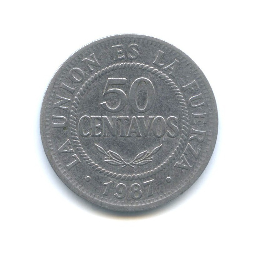 50 сентаво 1987 года (Боливия)