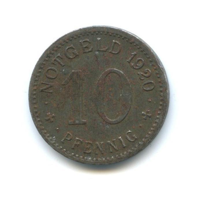 10 пфеннигов, район Липпе (нотгельд) 1920 года (Германия)