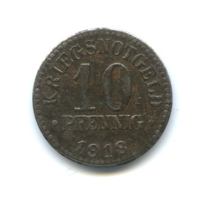 10 пфеннигов, Брауншвейг (нотгельд) 1918 года (Германия)