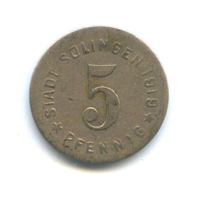 5 пфеннигов, Золинген (нотгельд) 1919 года (Германия)