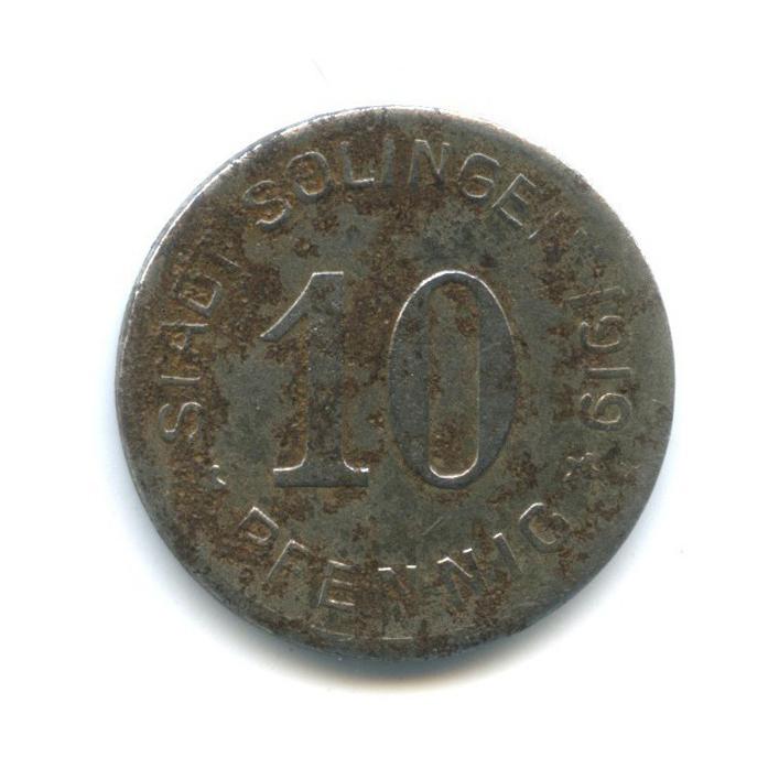 10 пфеннигов, Золинген (нотгельд) 1919 года (Германия)