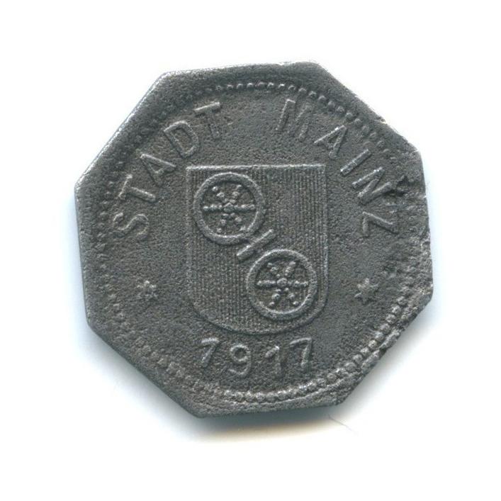 10 пфеннигов, Майнц (нотгельд) 1917 года (Германия)