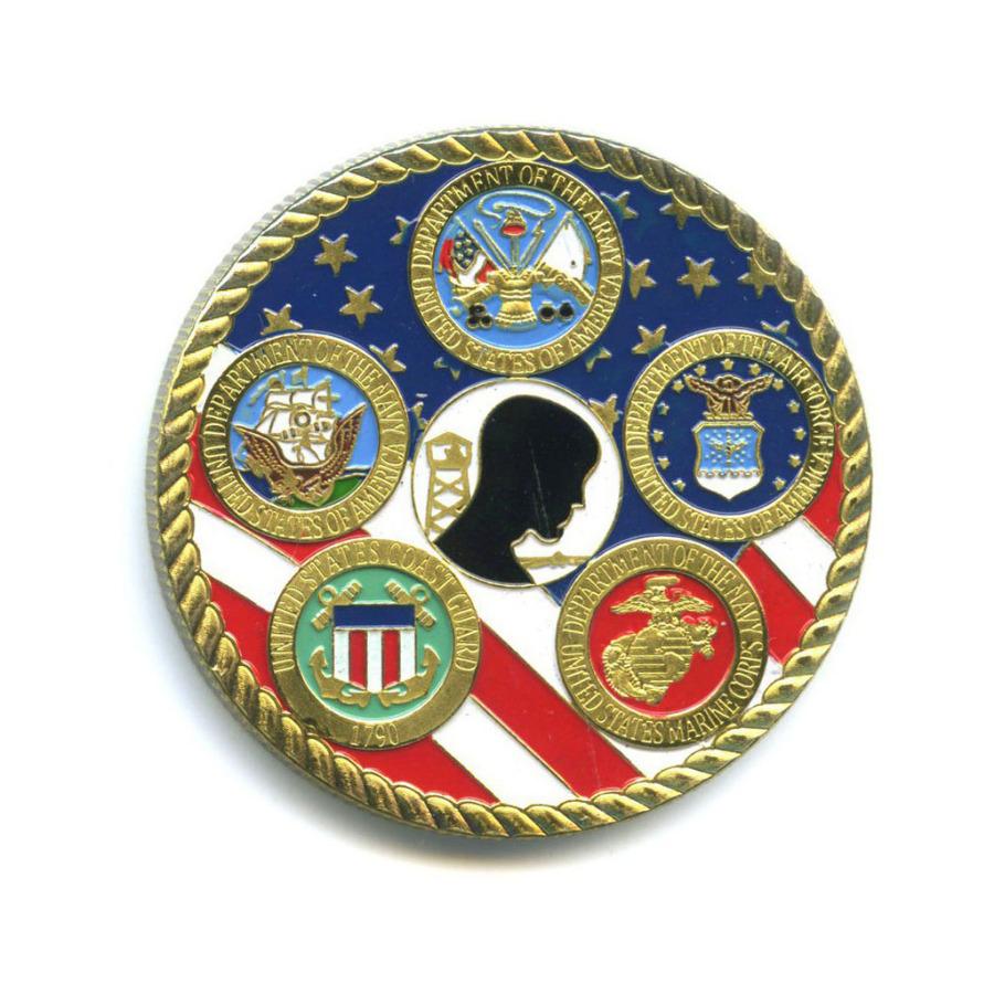 Жетон «Great Seal ofthe United States - Washington» (вцвете, под золото)