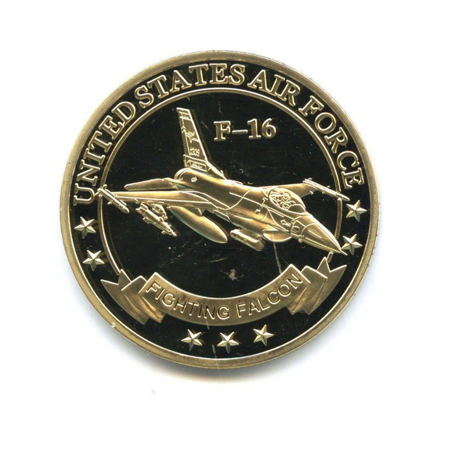 Жетон «F-16 Fighting Falcon» (вцвете, под золото)