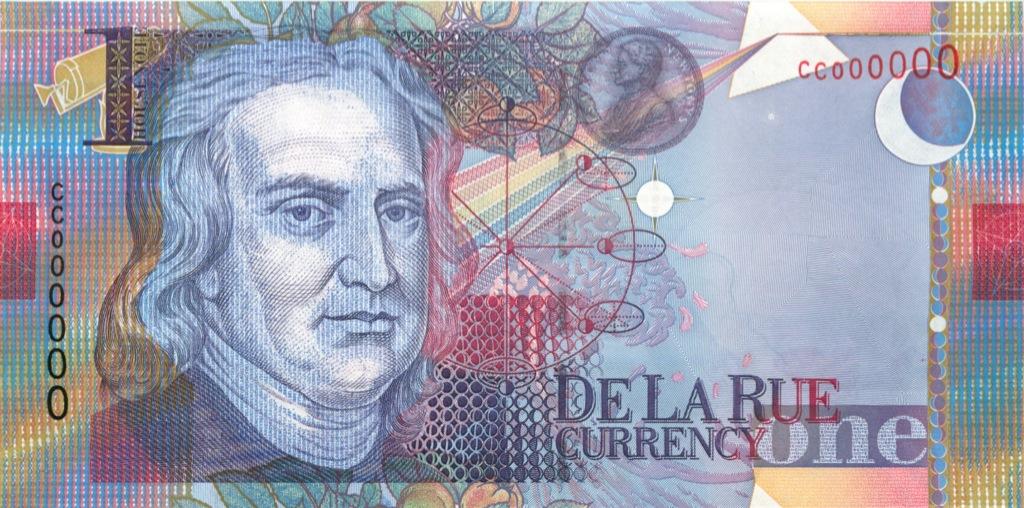 Банкнота тестовая - Ньютон, DeLaRue (Великобритания)