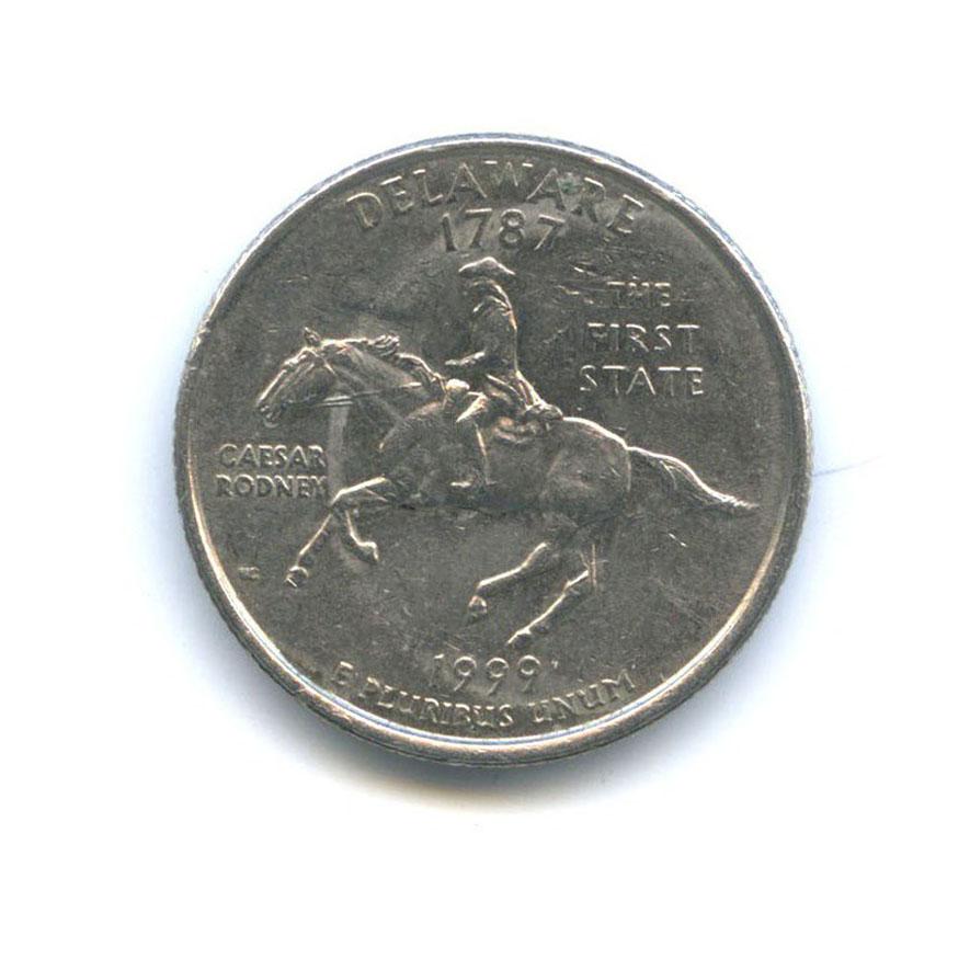 25 центов (квотер) — Квотер штата Делавэр 1999 года P (США)