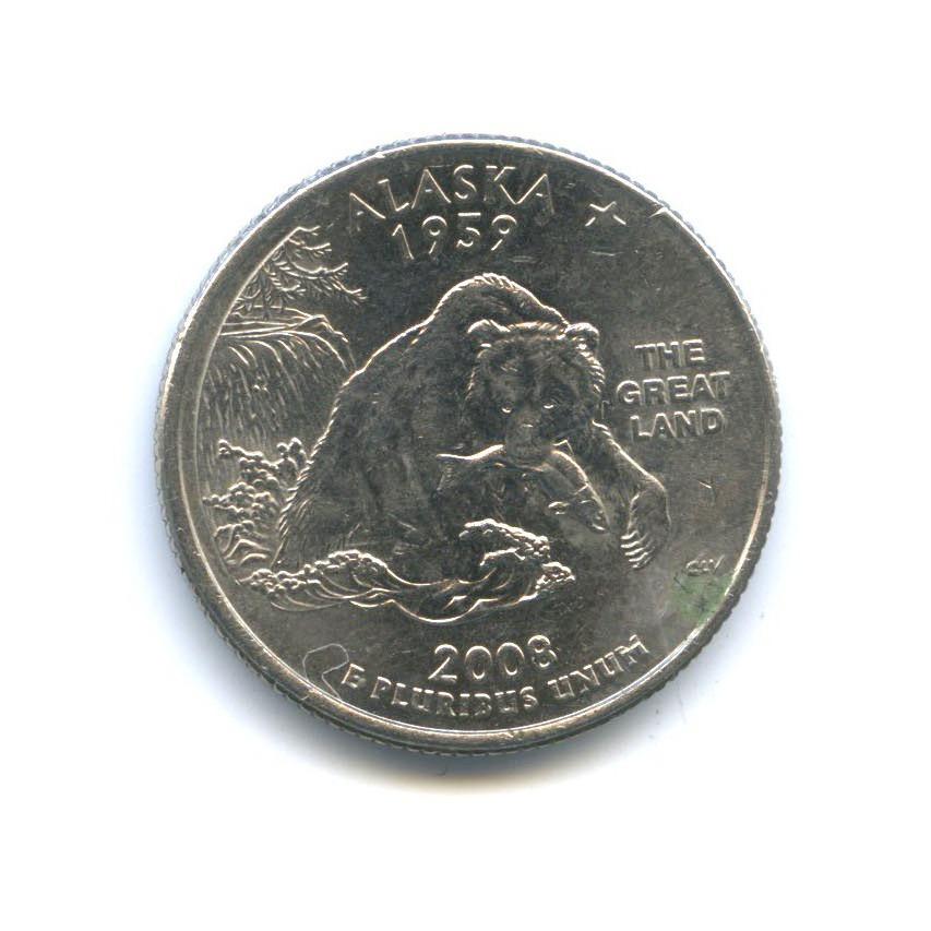 25 центов (квотер) — Квотер штата Аляска 2008 года P (США)
