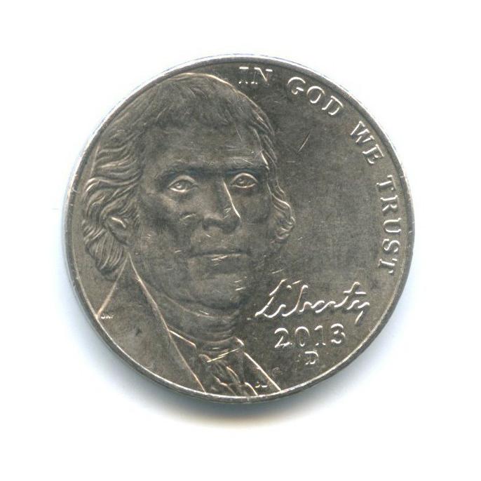 5 центов 2013 года D (США)