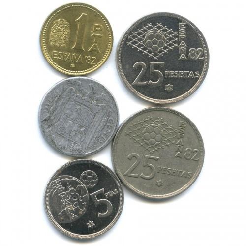 Набор монет 1941, 1980 (Испания)