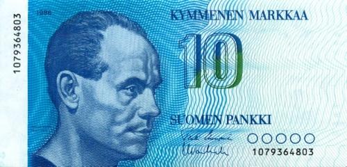 10 марок 1986 года (Финляндия)