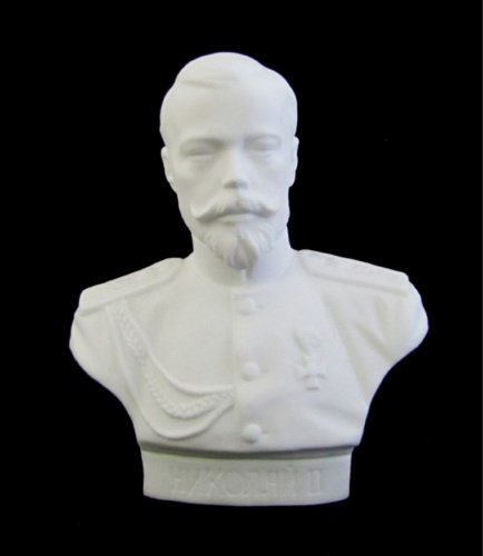 Фигурка ЛФЗ «Николай II», костяной фарфор (высота 9,5 см) (Россия)